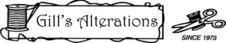 Gill's Alterations Logo